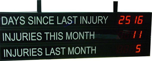 """Picture of 2"""" / 4"""" / 6"""" or 8"""" High Safety Scoreboard"""