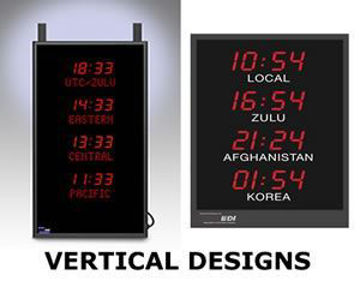 Picture of Time Zone Clock - Vertical Design
